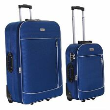 Slimbridge Rennes Set of 2 Expandable Suitcases Navy
