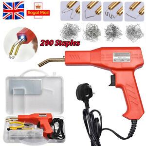 Hot Stapler Gun Plastic Repair Car Bumper Welding Welder Machine Kit + Staples