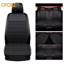 Universal Car Seat Cover Linen Leather Pad Front Back Mat Chair Cushion Protect