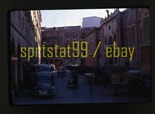 1967 European Street Scene - Bus, 3-Wheel Cart, Donkey/Cart - Vintage 35mm Slide