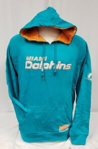 BRAND NEW Majestic Men's Miami Dolphins Hooded Sweater