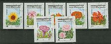 Briefmarken Kambodscha 1983 Blumen Mi.Nr.510-516