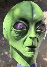Retro Latex Mask Alien UFO Space Invader Extra Terrestrial Adult Prop Sci Fi