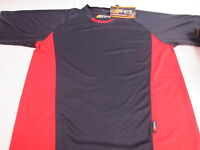 Grays Mens Red Navy Mesh Side Panel Sports Polo T-Shirt Top - Large #28E129