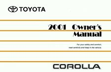 2001 Toyota Corolla Owners Manual User Guide Reference Operator Book Fuses