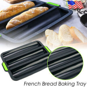 French Baguette Bread Mold Pan Tray Baking Molds Non-Stick Silicone Bread DIY