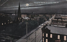 ST. THOMAS, Ontario, Canada, 1908 , Looking West From City Hall at night