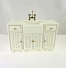 Dollhouse Miniature Cottage Style Kitchen Sink Unit, J9040W