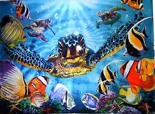Sea Turtle Sealife Huge Blanket Towel 54x68 Beach Blanket