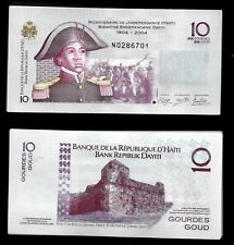 HAITI - 10 GORDES GOUD 1804 - 2004 SERIAL PACKET GEM UNC