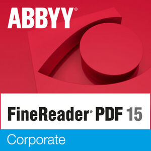 ABBYY Finereader 15 Corporate OCR - PC