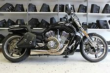 Harley V-ROD MUSCLE RIGHT Side BLACK SOLO BAG Saddlebag - VRR03 BAD&G CustomS