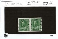 Middlesex Stamp,  Canada #125  KGV Coil Pair, Mint Hinged. ci3