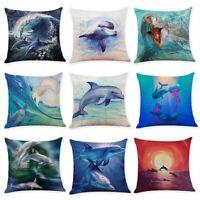 Delphin Kissenbezug Kissenhulle Dekokissen Kissen 45x45 Kissenhullen Bezug Hulle