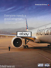 AMERICAN AIRLINES EVERYONE NEEDS A GOOD WINGMAN LGBT 2016 BOEING 777 SAN JOSE AD
