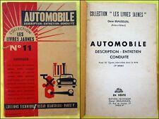 Les Livres Jaunes. N°11. AUTOMOBILE Description Entretien Conduite. 1962.