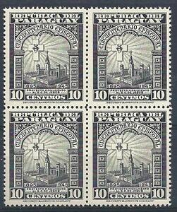 Paraguay 1948 Sc# 449 Hear of Jesus project monument block 4 MNH