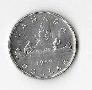 1952 Canadian Silver Dollar (WL)