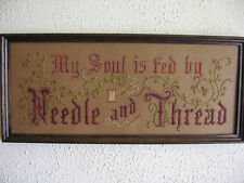 Motto sampler kit, My Soul is fed by Needle and Thread