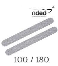 2x Lima di unghie Professionale Dritta Zebra 2 Volti 100/180 NDED Lime nails/