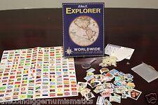 Whitman H.E.HARRIS & CO Explorer Worldwide Stamp Collection Starter Kit + Hinges