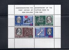 NEW ZEALAND 1969 CAPTAIN COOK souvenir sheet MS910 VF MH