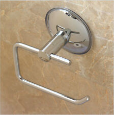 Stainless Steel Bathroom Suction Cup Toilet Paper holder Tissue Holder Pip