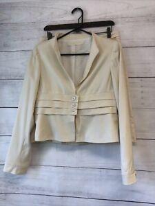 Valentino Skirt Suit Women's Size 8 Beige Cashmere Wool Blend T-951