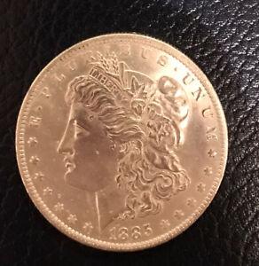 1885o  USA SILVER MORGAN DOLLAR.