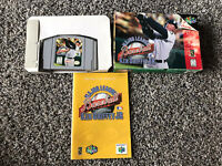 Major League Baseball featuring Ken Griffey Jr Nintendo 64 Complete In Box Works