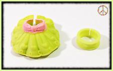 🌺Littlest Pet Shop RARE Original LPS Green Collar & Skirt Clothes Accessory Set