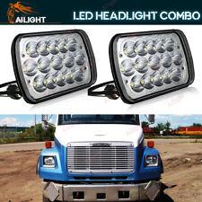 """7x6"""" LED Headlights For Freightliner FL106 FL112 FL60 FL70 FL80 FS65 MT35 MT45"""