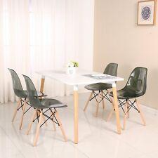 4er Stuhl Plastik Esszimmerstühle Wohnzimmerstuhl Küchenstühle Transparent Clear