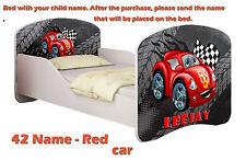 Children Kids Bed Mattress Delivery Toddler 05. Red Car No 140x70