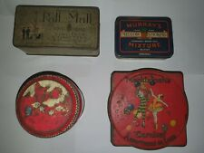 X4 ANTIQUE TINS DECORATIVE COLLECTABLE DISPLAY ITEMS