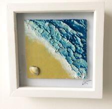 Handmade Beach Art Scene Ocean Sand Shell Island Home decor Surf Surfing Holiday