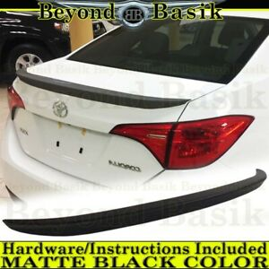 For 2014 15 2016 2017 2018 2019 Toyota Corolla MATTE BLACK Factory Style Spoiler