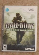 CALL OF DUTY Modern Warfare Reflex Edition for Wii w/ Instruction Booklet