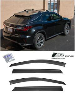 EOS Visor For 16-Up Lexus RX350 RX450 Mugen Tape-On Side Window Vent Rain Guards