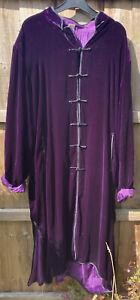 Purple Velvet Full Length  Jacket Lunn Antiques Size Xl