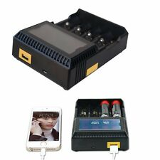 Nokoser 4 Slot Digital LCD Smart Battery Charger Li-ion LiFePO4 NiMH NiCd AA/AAA