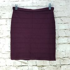 626a37b7ba River Island Women s Skirt Size S Plum Purple Knit Stretchy Fitted Casual  Career