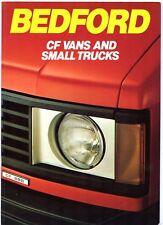 BEDFORD CF VAN e piccolo camion 1982-84 UK Opuscolo del mercato 230 250 280 350 350 L