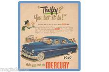 1949 Mercury  Auto Ad  Refrigerator / Tool Box Magnet
