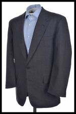 CHESTER BARRIE Gray Plaid Check 100% Wool Mens Blazer Sport Coat Jacket - 42 R