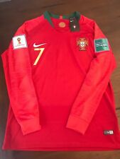 World Cup 2018 Portugal Christiano Ronaldo Home Jersey long sleeve with patches