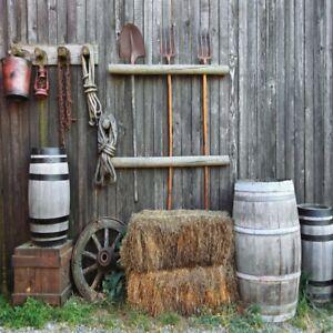 Farmhouse Background Yard 10x10 Studio Wood Wall Backdrop Clip Rural Photo Prop