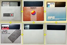 IBM PC - Lot / Pack 6 disquettes 5.25' vierges / 5.25' Blank Floppy Disks