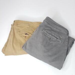 Lot of 2 American Eagle Slim Straight Mens Pants Sz 34x30 Gray Brown