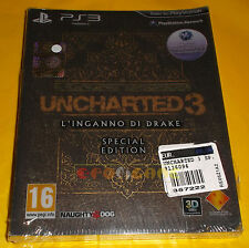 Uncharted 3 L'inganno di Drake Special Edition PAL ITA Sony Playstation 3 Ps3
